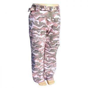detské maskáčové nohavice